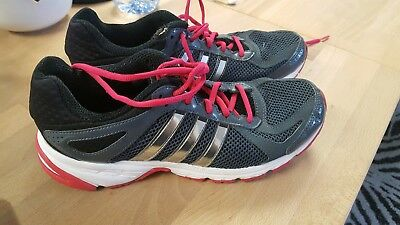 Adidas Run Smart trainers, UK size 6.5, grey with pink detail