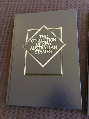 1986 Australian Stamp Year Book Collection With All Stamps