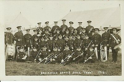 Military, South Wales Borderers, Brecknock Battn. Band 1914,  Photo Postcard