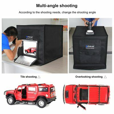 Puluz portable 60cm photographie Studio Photo éclairage Shoot Tente Box Kit+DEL~