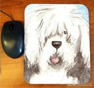 MOUSE PAD  OLD ENGLISH SHEEPDOG OES   BY  Amy Bolin