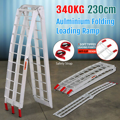 2.3M 340KG Foldable Aluminum Motorbike ATV Loading Ramps Heavy Duty Ramps