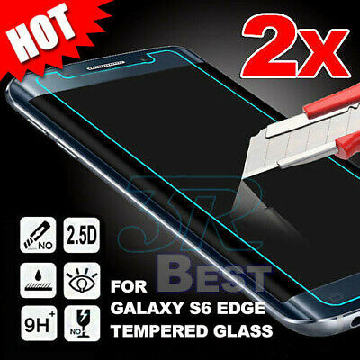2X For Samsung Galaxy S6 S6 Edge Screen Protector Tempered Glass LCD Film Guard