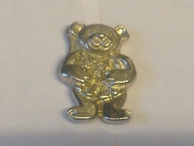 BR1207 Teddy Bear Toy Pewter Brooch Pin Badge