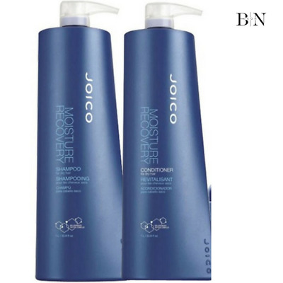 Joico Moisture Recovery Shampoo 1000Ml & Conditioner 1000Ml Duo + Free Pumps