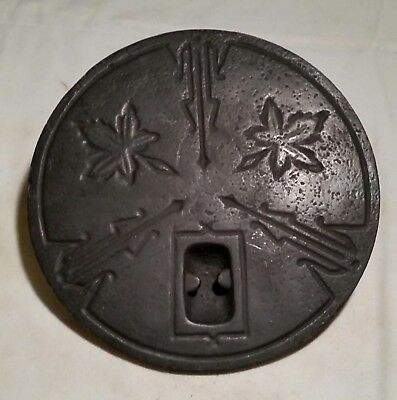 "Antique Parlor Stove Ornate Burner Cover (7"")"