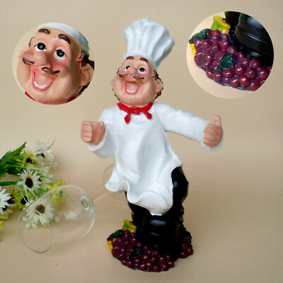 1Pcs Creative Figures Wine Rack New Personality Chef Ornaments Resin Wine Rack