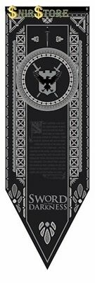 Game Of Thrones Night's Watch Tournament Banner Fabric Poster Wall Home Decor