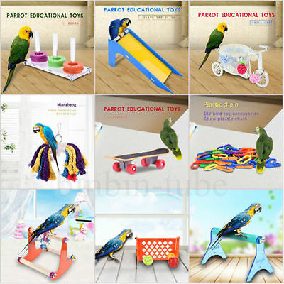 Pet Bird Parrot Macaw Canary Hanging Stand Swing Chewing Foraging Toy Cage Decor