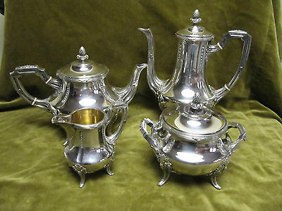 Magnificent french sterling silver 950 tea coffee set Louis XVI st E Puiforcat
