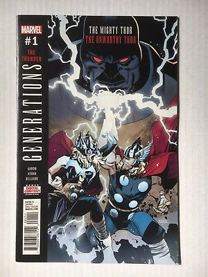 Marvel Comics: Generations The Unworthy Thor & The Mighty Thor #1 (2017) - BN