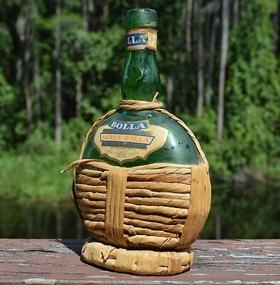 Bolla Soave Bolla Italian Dry White Wine Vintage Antique Green Glass Bottle Only