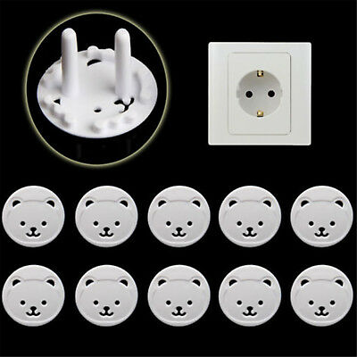 10X Power Kid Socket Cover Baby Child Protector Guard Mains Point Plug Bear HIGH