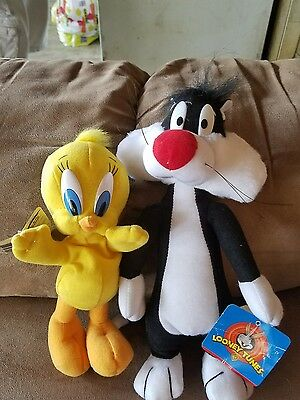 Loony Tunes tweety and Sylvester  plush