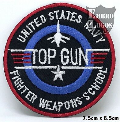 TOP GuN USA NAVY ARMY  Embroidered-iron on patch