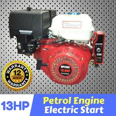 13Hp Petrol Engine 4 Stroke Electric Start Ohv Motor Horizontal Shaft
