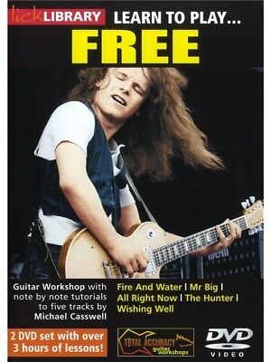 Lick Library: Learn To Play Free. Guitar 2 x DVD (Region 0)
