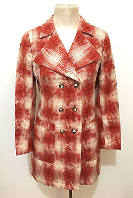 CULT VINTAGE '70 Cappotto Donna Lana Antico Wool Woman Coat Sz.S - 40