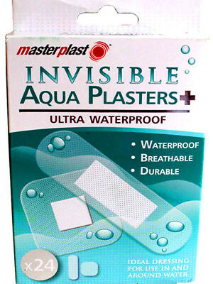 Aqua Plasters Invisible Ultra Waterproof PackOf 24 Masterplast Durable Material