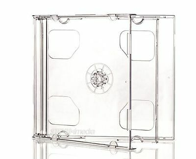2 x Double Disc Clear Jewel Cases - Standard Size - 10mm thick