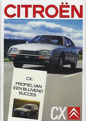 Citroen CX Berline Break Prestige • 1988 • Brochure Prospekt • Dutch • EXCELLENT