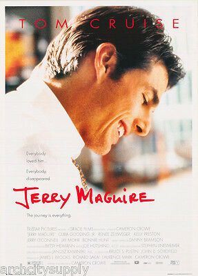LOT OF 2 POSTERS:MOVIE REPRO: JERRY McGUIRE - TOM CRUISE     #FPO404    LW9 A