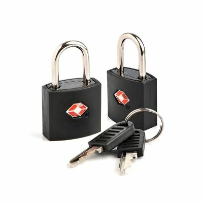 TSA Approved 2 Pack Security Identi Key Lock Padlock for Travel Luggage Suitcase