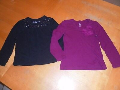 (2) GIRLS Long-Sleeve SHIRTS by CHILDREN'S PLACE - Size S 5/6