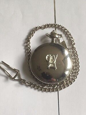 Spinning Wheel TG306A Pewter on a Silver Pocket Watch Quartz fob