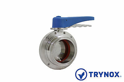 Tri Clamp Sanitary Stainless Steel 304 3'' Butterfly Valve EPDM Seal Trynox