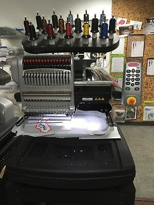 16 Needle Melco Bravo Embroidery Machine - Used