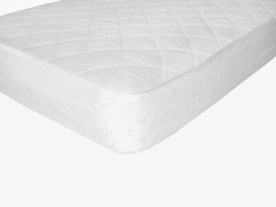 Waterproof Fitted Bamboo Crib and Toddler Mattress Protector / Pad / Cover White