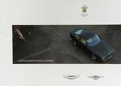 Aston Martin Virage Coupe  • 1990 • Brochure • LARGE English • EXCELLENT