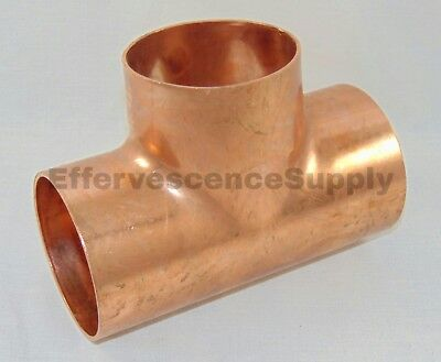"NIBCO 1-1/2"" Copper Tee, Wrot Copper, C x C x C"