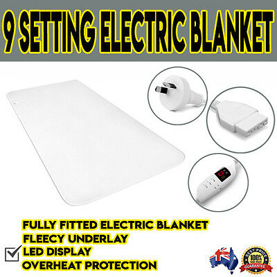 Electric Blanket Duvet Fleecy Fleece Synthetic Wool Washable Fully Fitted