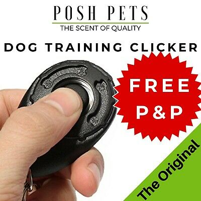 DOG PUPPY CLICKER Professional TRAINING AID in Black No.1 Pet Trainer POSH PETS
