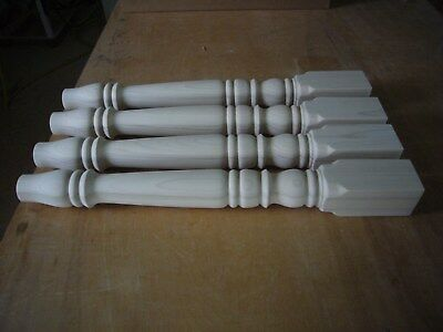 A set of 4 brand new unfinished poplar wood table legs. For kitchen, dining