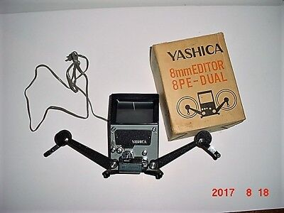 Vintage Old - Yashica 8PE-Dual Super 8mm Film Editor - Solid Metal Body
