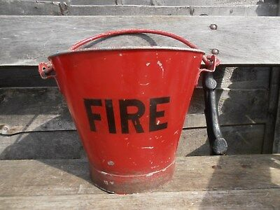 Vintage galvanised Metal Fire bucket.