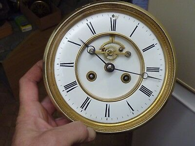 Large Antique French Clock Open-Escapement Movement & Dial (Oe)