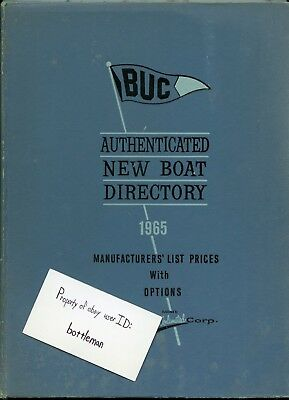 Vintage 1965 BUC Authenticated New Boat Directory Book
