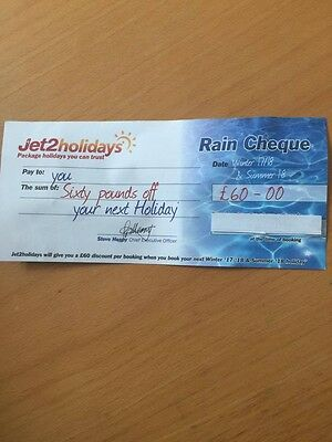 Jet 2 Save £60.00 on Package Holidays  Voucher Rain cheque