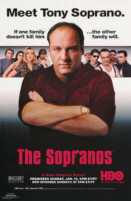 Lot Of 2 Posters :tv : Sopranos - Meet Tony - James Gandolfini    #693   Lw11 A