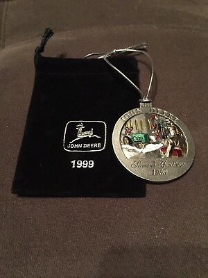 John Deere 1999 Pewter Christmas Ornament