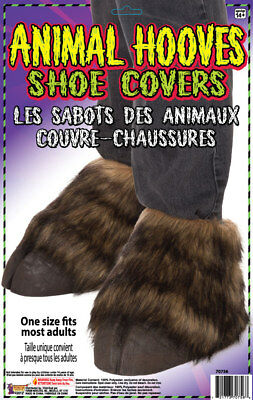 Animal Hoof Shoe Covers Costume Horse Donkey Faux Fur Latex Horn Adult Hooves