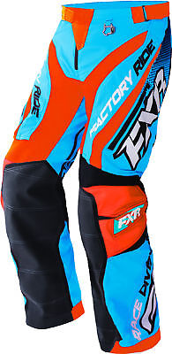 FXR Mens Blue/Orange/Black/White Cold Cross Race Ready Snowmobile Shell Pants