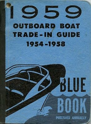 Vintage 1959 Outboard Boat Trade-In Guide Blue Book