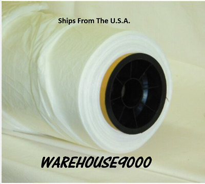Plastic Sheeting For Paint Overspray Protection Paintable 16' x 350' Boxed Roll