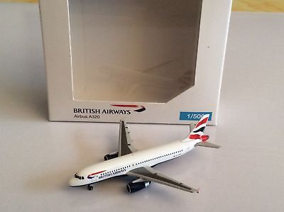 Herpa 518925, British Airways Airbus A320, 1:500, in OVP, ungeöffnet