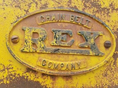 Rex cement mixer with running Hercules engine antique iron loading skip